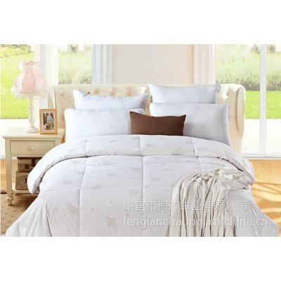 复盛坊家纺床上用品 2015年新款100%纯羊绒被 纯棉双人加厚保暖特价批发