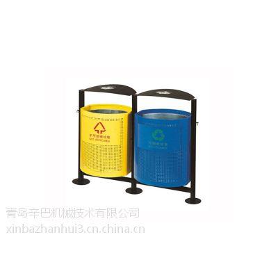 青岛不锈钢垃圾桶供货商,辛巴机械是,山东不锈钢双桶垃圾桶