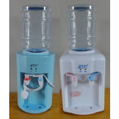 供应富贵花饮水机厂家直销小牛头T-D豪华白色迷你台式温热 饮水机加套装桶