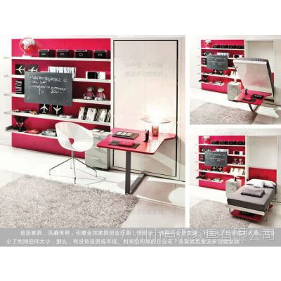 小户型家具经济适用房wall bed墨菲床定制家具隐形床壁柜床五金