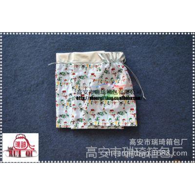 烫金粉丝印定制色丁礼品包装布袋 绸缎束口抽绳袋