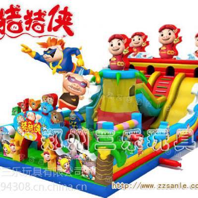 广场大型充气滑梯 儿童新款充气滑梯大全 广西南宁猪猪侠充气滑梯