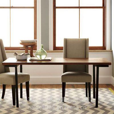 海德利厂家定制 实木长方形餐桌 简洁时尚餐桌 批发