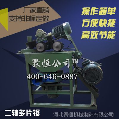 供应多片锯 厂家直销大型方木多片锯 木工机械专用 二轴多片锯