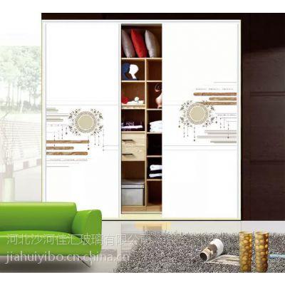 沙河佳汇厂家生产销售精美超白彩绘玻璃衣柜门 立体打印魔幻5D玻璃衣柜平移门