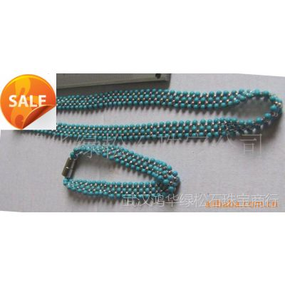 精美秀气纯银配饰的绿松石项链