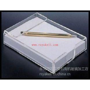 供应东莞 RS-215 透明亚克力便签盒定制