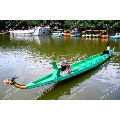 14人比赛型龙舟,标准木质手划龙舟