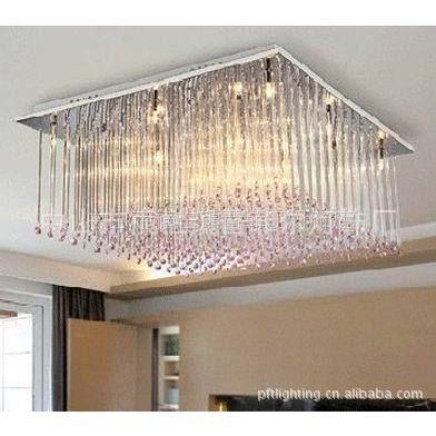 供应现代简约水晶吸顶灯,客厅/餐厅/卧室/书房/工程水晶灯具CPT005-12