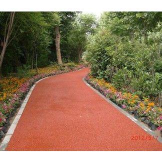 供应专业施工彩色生态透水地坪 彩色透水路面 透水砼地坪