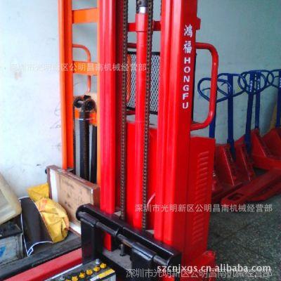 深圳供应二手鸿福1吨半电动堆高车,升2.5米鸿福电动叉车〈售馨〉