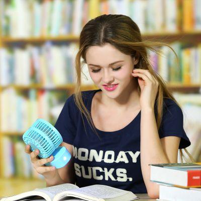 优品玩意创意时尚户外双人USB充电风扇 学生桌面迷你风扇 厂家直销