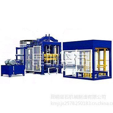 供应昆明坚石机械QMJ8-15型全自动液压砌块砖机