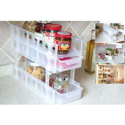 范斯高 两层整理架 塑料收纳架 厨房迷你调味料置物架储物架