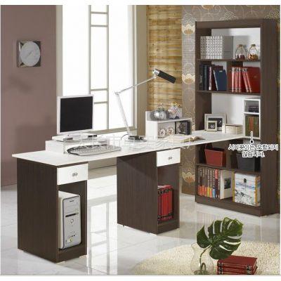 供应卓实家具板式家具生产制造排头兵双人书桌+书柜电脑桌