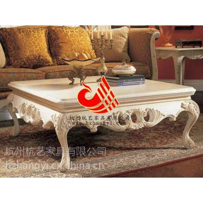 供应杭州KTV酒店茶几款式图片/高级会所实木雕刻贴金银箔茶几/高级别墅茶几