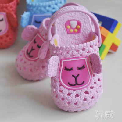 夏季新款小羊宝宝儿童凉拖鞋男女宝宝软底防滑包头沙滩凉拖鞋批发
