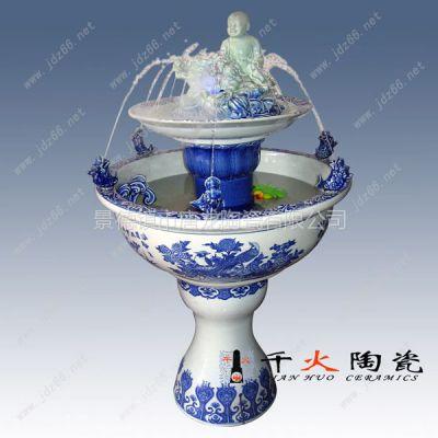 供应陶瓷喷泉空气加湿器厂家批发定做 景德镇陶瓷喷泉加湿器厂家