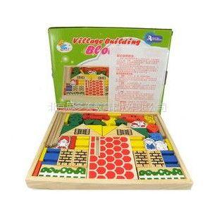 供应牧场积木 动物农庄模型 快乐农场DIY 儿童木质玩具多造型颜色积木