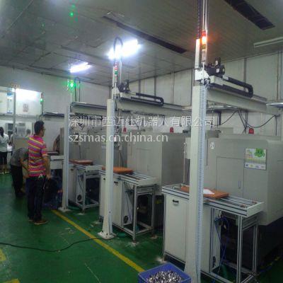 江西供应行业领先机床生产线,机床上下料, 西迈仕数控车床桁架机械手