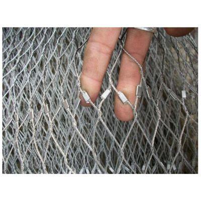 河北安平凯安直销不锈钢丝绳网、动物园用不锈钢绳网