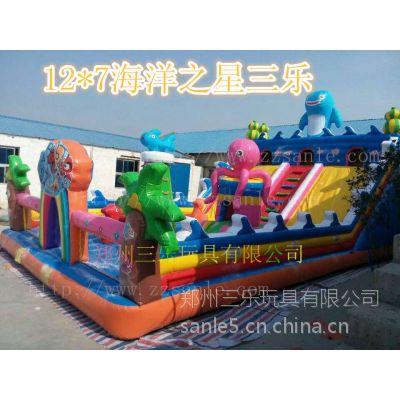 山东省菏泽市广场上流行摆放什么儿童充气玩具,充气滑梯怎么样