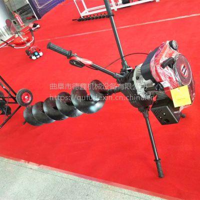 工厂直销汽油动力手提式电线杆挖坑机 护栏围栏打桩机 钻树坑机