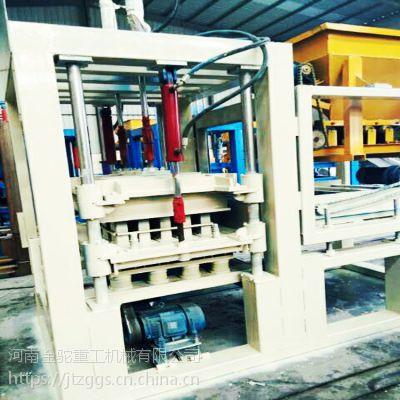供应金驼4-15全自动水泥面包砖机 盲道砖设备 多功能水泥砖机