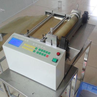 供应江苏硅胶片裁切机 PVC电池电线热收缩套管切管机 热缩管裁管机 裁剪磨砂PP胶片切片机 全自动切