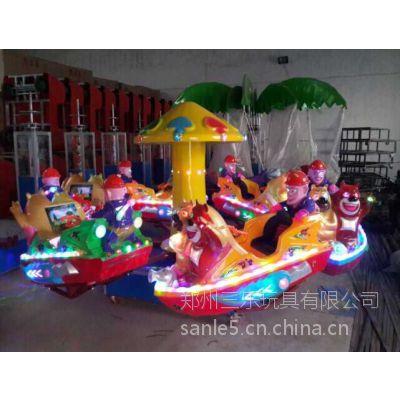 山西朔州儿童旋转小飞船价格音乐彩灯定做产品