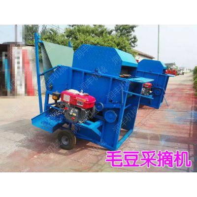 润丰牌柴油机带动的毛豆采摘机摘毛豆机 满足您各种需要