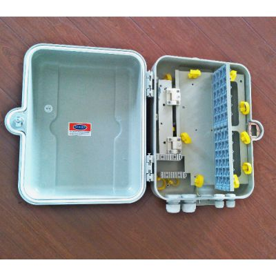 供应48芯SMC光纤分纤箱(抱杆式>带抱箍)>夏季热线