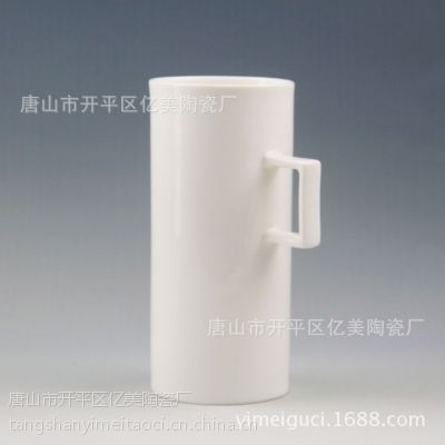 现货批发骨瓷直筒杯子纯白马克杯个性水杯创意礼品情侣陶瓷咖啡杯