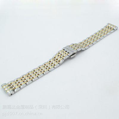 鹏嘉达供应手表配件18mm不锈钢钢带金属实芯表链子玫瑰金(2502)