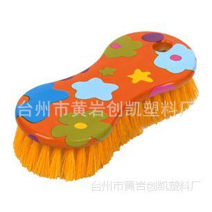 厂家直销 032 腰形水转印洗衣刷 塑料板刷 清洗刷子 家务刷 鞋刷