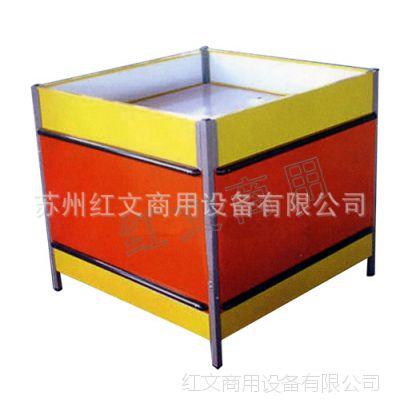 【厂家直销】HW-T-012超市促销台 简单大气 双层放货 带防撞条