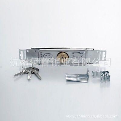 供应【奈我何牌】薄型中间卷闸门锁/卷帘门锁/3把十字钥匙/铜芯