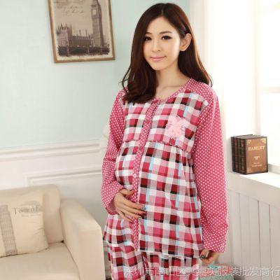 新款正品现货针织棉春秋冬季月子服孕妈哺乳衣产妇喂奶衣厂家直销