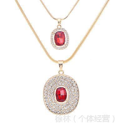 新款欧美时尚经典高贵女人的秘密 水晶项链直销全网