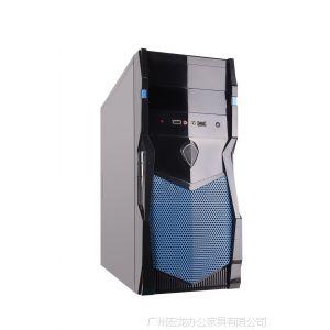 供应台式机电脑机箱 网吧家用办公游戏主机箱 空箱 大中小板 颜色随机