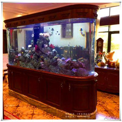 江苏大型亚克力鱼缸 实木鱼缸工程