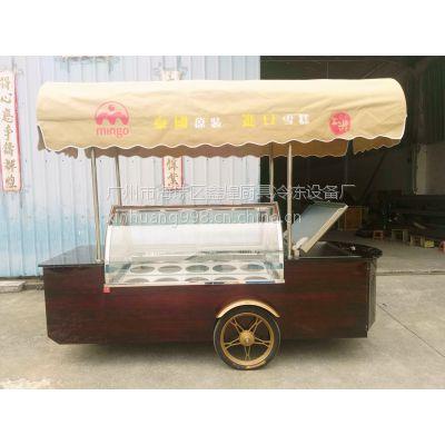 冰友-25度雪糕移动花车 冰淇淋流动车冷藏车 冰棍展示柜带储存冰箱