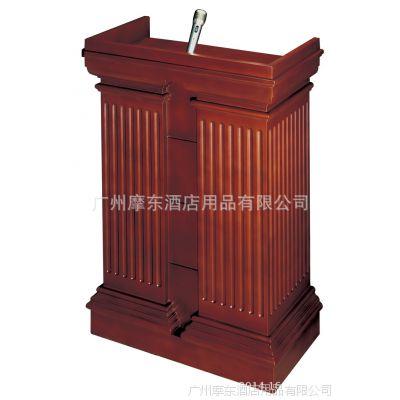 厂家可定做全实木欧式演讲台 楼盘售楼部接待台 写字楼门口咨询台