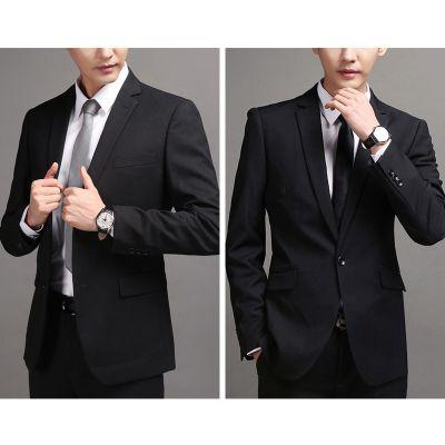成都斯曼特厂家供应高档男士西服 黑色西装 批发宴会职场西服 正装西服