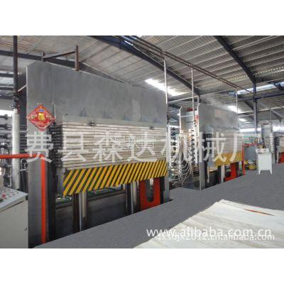 供应费县森达建筑模板生产线热压机、冷压机等全套设备