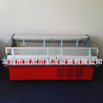 雪尼尔冷柜 2米鲜肉柜 XRG-2000 猪肉鸡鸭肉生鲜展示 超市生鲜肉食柜 纯铜管无霜风冷