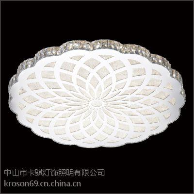 新款时尚圆形水晶吸顶灯 现代简约卧室灯 客厅餐厅led吸顶灯 卡骐灯饰照明