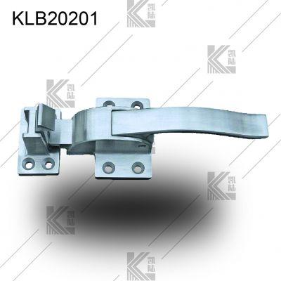 凯陆 高档304不锈钢把手 工业门把手 冷库门把手 烘烤箱可调节门锁 商用厨具门把手锁 不锈钢橱柜拉