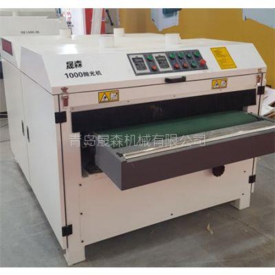 全自动异型砂光机 曲面打磨机 橱柜门板抛光机1000型 晟森机械