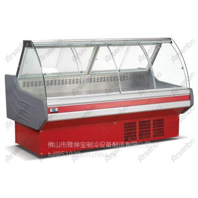 供应湖北武汉周黑鸭熟食冷柜 熟食保鲜柜 红色熟食柜 厂家销售超市熟食柜